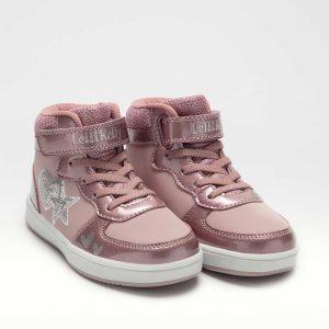 Lelli Kelly LK4860 Paula Girls High Top Sneakers Pearl Pink
