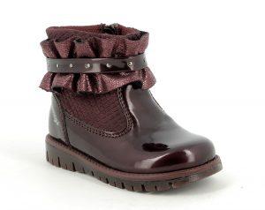 Primigi 8361900 Girls Boots Patent Leather Burgundy