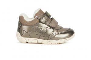 Geox Balu Baby Girls First Ankle Boots Smoke Grey
