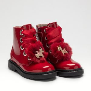 Lelli Kelly LK4520 Girls Boots Red Patent