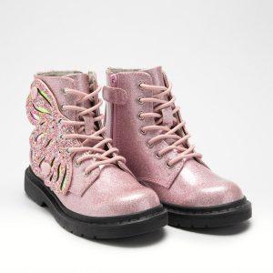 Lelli Kelly LK5544 Fairy Wings Boots Glitter Rosa